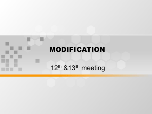 MODIFICATION 12 &13 meeting