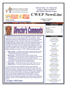 CWEP NewsLine  Volume 12 Issue 3