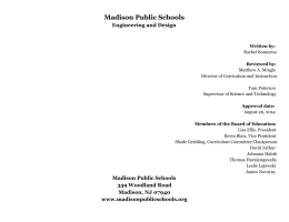 Madison Public Schools Engineering and Design