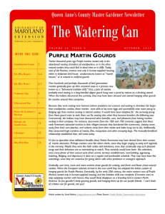 The Watering Can Queen Anne's County Master Gardener Newsletter  P