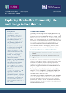 Exploring Day-to-Day Community Life and Change in the Liberties Background