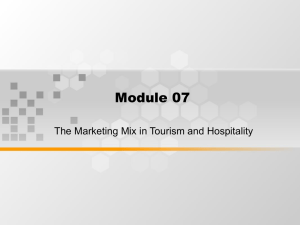Module 07 The Marketing Mix in Tourism and Hospitality
