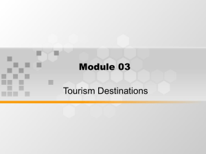 Module 03 Tourism Destinations