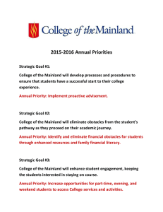 2015-2016 Annual Priorities