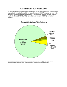 GAY VETERANS TOP ONE MILLION