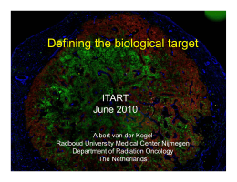 Defining the biological target ITART June 2010