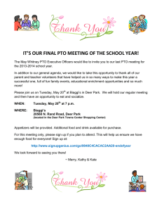 IT'S OUR FINAL PTO MEETING OF THE SCHOOL YEAR!