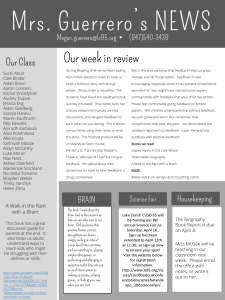 Mrs. Guerrero's NEWS Our week in review