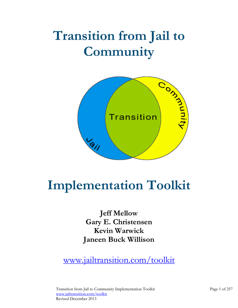 Ville Montréal Qc Ca Payer Constat >> Transition From Jail To Community Implementation Toolkit