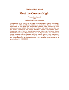 Meet the Coaches Night Madison High School