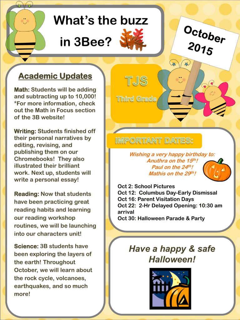 What's the buzz in 3Bee? Academic Updates