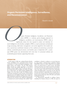 Organic Persistent Intelligence, Surveillance, and Reconnaissance