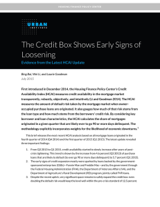 The Credit Box Shows Early Signs of Loosening