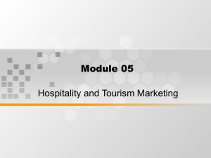 Module 05 Hospitality and Tourism Marketing