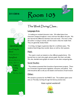 Room 103 This Week During Class... 3/4/2013 3/11/2016