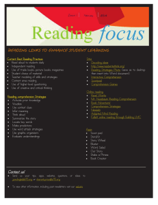 READING LINKS TO ENHANCE STUDENT LEARNING