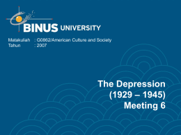 The Depression – 1945) (1929 Meeting 6