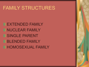 FAMILY STRUCTURES EXTENDED FAMILY NUCLEAR FAMILY SINGLE PARENT