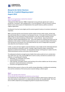 Blueprint for Better Business Note for Cranfield Mapping project August 2014