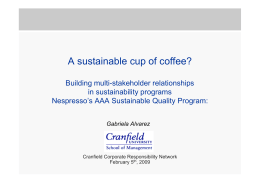 A sustainable cup of coffee?