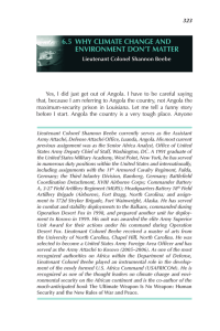 6.5  why CLIMAtE ChANGE AND ENVIRoNMENt DoN't MAttER