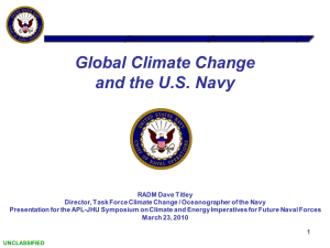 Global Climate Change and the U.S. Navy