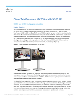 Cisco telepresence mx300 g2 manual