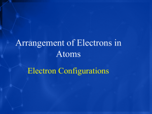 Arrangement of Electrons in Atoms Electron Configurations