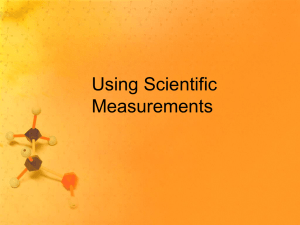Using Scientific Measurements