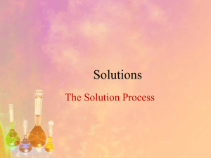 Solutions The Solution Process