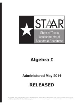 ST AR A Algebra I