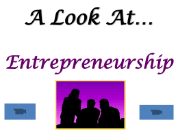 A Look At… Entrepreneurship
