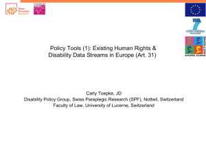 Policy Tools (1): Existing Human Rights &