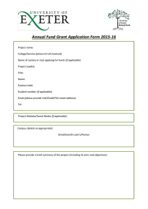 Annual Fund Grant Application Form 2015-16