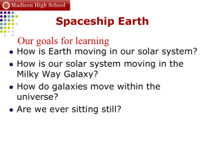 Spaceship Earth Our goals for learning :