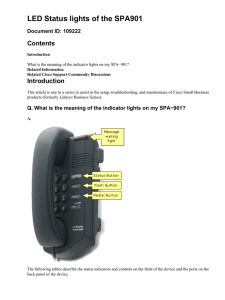 LED Status lights of the SPA901 Contents Introduction Document ID: 109222