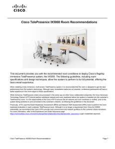 Cisco TelePresence IX5000 Room Recommendations