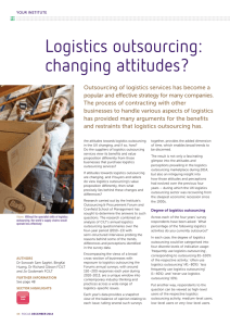Logistics outsourcing: changing attitudes?