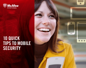 10 Quick Tips To Mobile securiTy