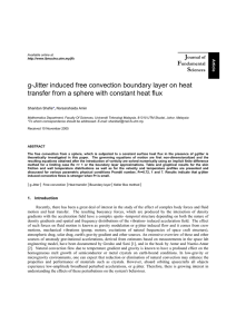 g-Jitter induced free convection boundary layer on heat
