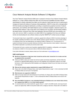 Cisco Network Analysis Module Software 5.0 Migration