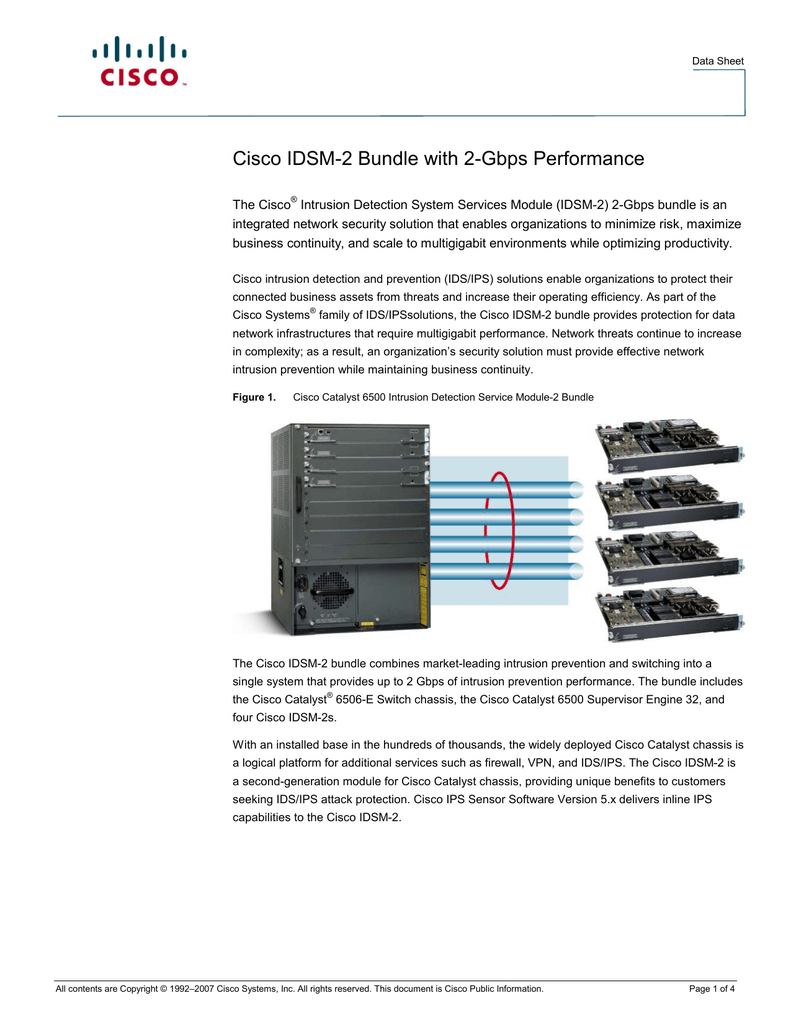 Cisco IDSM-2 Bundle with 2-Gbps Performance