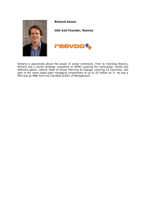 Richard Anson CEO and Founder, Reevoo