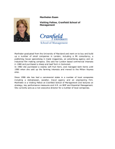 Marihelen Esam Visiting Fellow, Cranfield School of Management