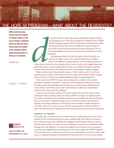 d THE HOPE VI PROGRAM—WHAT ABOUT THE RESIDENTS?