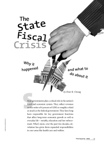 S State Crisis Fiscal