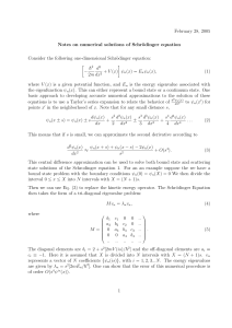 February 28, 2005 Notes on numerical solutions of Schr¨ odinger equation