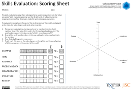 Skills Evaluation: Scoring Sheet Collaborate Project