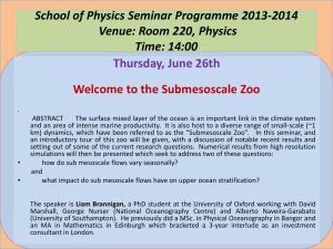 School of Physics Seminar Programme 2013-2014 Venue: Room 220, Physics Time: 14:00