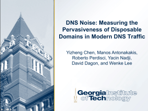 DNS Noise: Measuring the Pervasiveness of Disposable Domains in Modern DNS Traffic